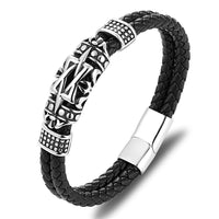 Leather Bracelets Ancient Architecture Totem Elegant Men Bracelets
