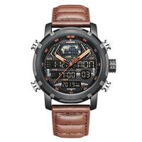 Watches NAVIFORCE Leather Sport Watch for Men NF9160