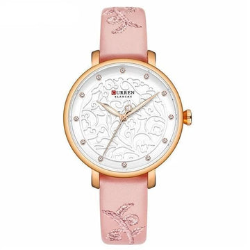 CURREN Luxury Wristwatch with Rhinestone 9046