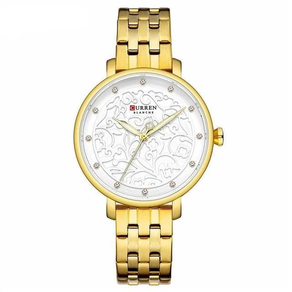 Watches CURREN Luxury Wristwatch with Rhinestone 9046