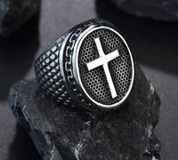 Rings Ring with Christian Cross