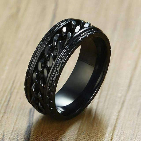 Ring with Tire Texture