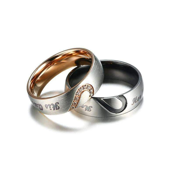 Rings Rings for Couples (Her King and His Queen)