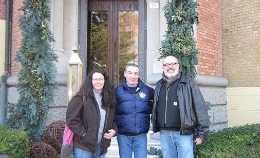 Nancy & Pat O'Brien visit Esterno Villa