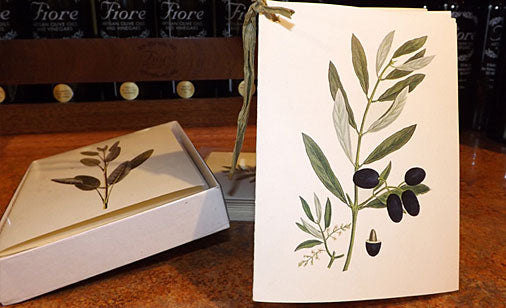 Lovely olive themed notecards
