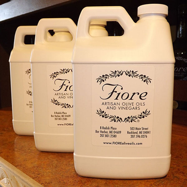 Fill your 2L Fusti with Your Favorite FIORE EVOOs or Flavored Olive Oils