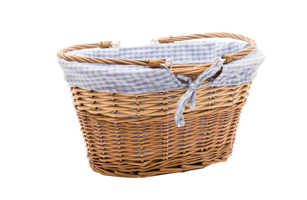 Basket Liner Blue Check