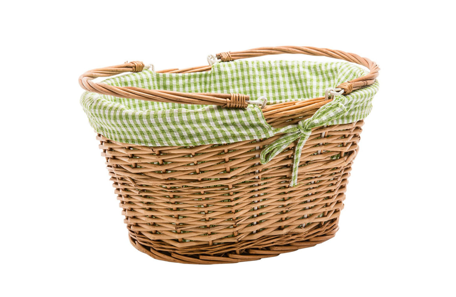 Basket Liner Green Check