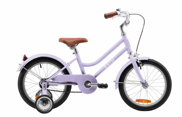 "Girls Vintage Style Bike 16"" in Lavender with  training wheels from Reid Cycles Australia"