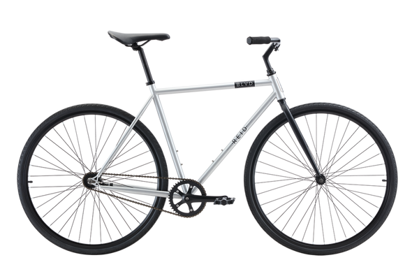 BLVD singlespeed bike in matte grey with front caliper brake from Reid Cycles Australia