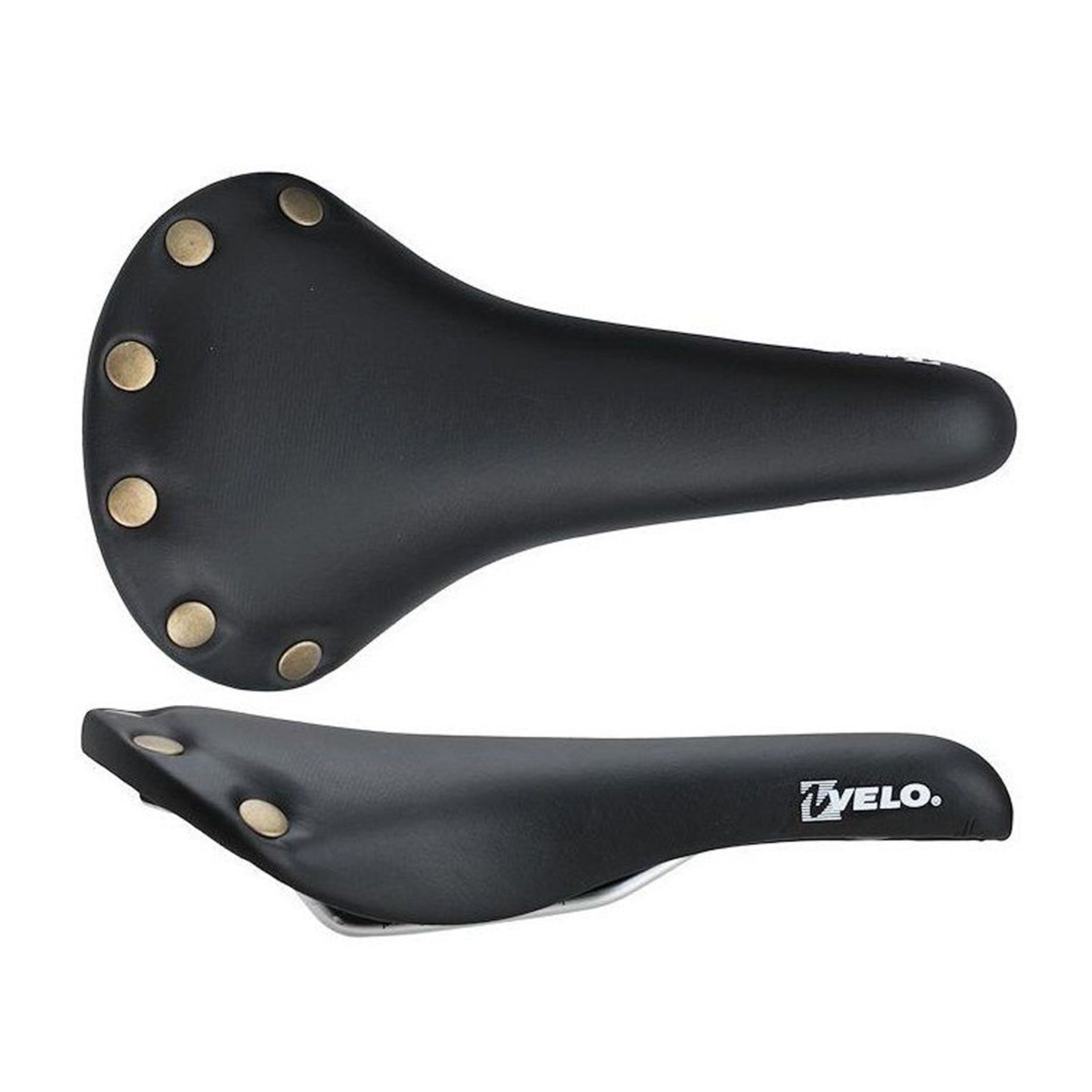 VL-1221 Studded Saddle Black