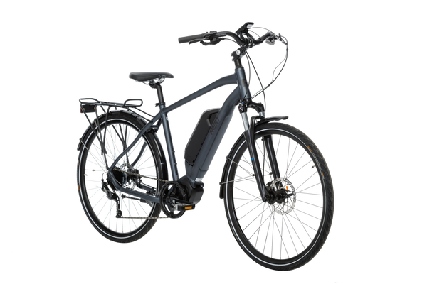 Adventure eBike in Charcoal showing on front angle from Reid Cycles Australia