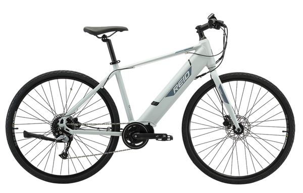 Blacktop 2.0 Electric Bike in Light Grey with Ananda Mid-drive motor from Reid Cycles Australia