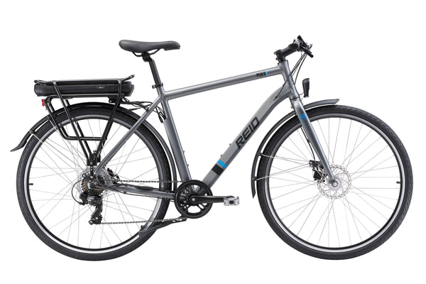 City Pulse eBike in charcoal with Bafang rear hub motor from Reid Cycles Australia