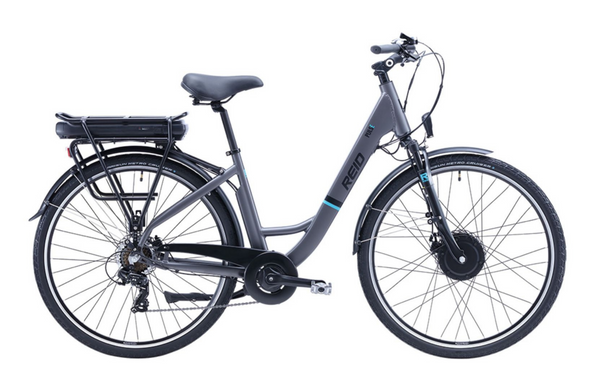 City Pulse Electric Bike WSD in grey with Bafang rear motor from Reid Cycles Australia