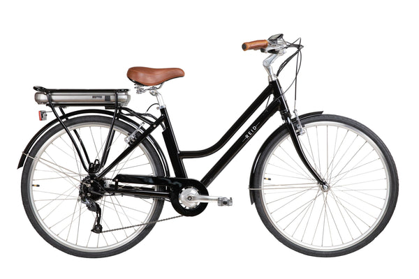 Classic Vintage Electric Bike in Black with Bafang rear hub motor from Reid Cycles Australia