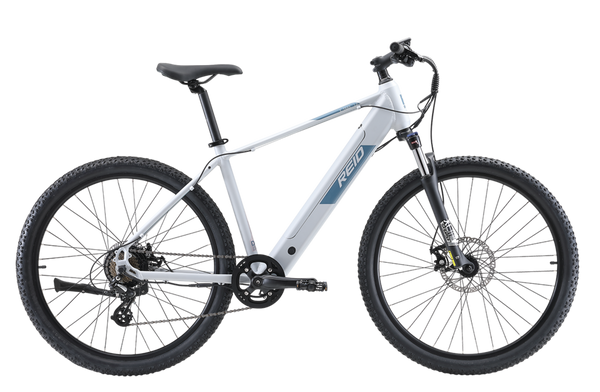 E-trail 1.0 Electric Bike in Grey with Bafang rear hub motor from Reid Cycles Australia