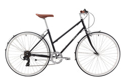 Ladies Esprit Vintage Bike in Black with 7-speed Shimano gearing from Reid Cycles Australia