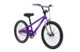 "Explorer S 20"" Kids Bike in purple on front angle from Reid Cycles Australia"