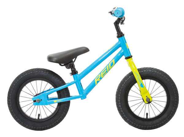 Explorer S Kids Balance Bike in Blue showing BMX style bike frame from Reid Cycles Australia
