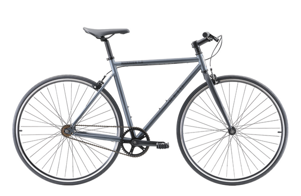 Harrier 1.0 singlespeed bike in matte charcoal with dual pivot alloy brakes from Reid Cycles Australia