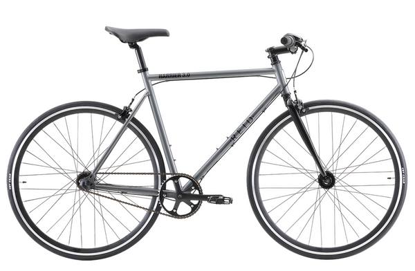Harrier 3.0 fixie style bike in black grey with Shimano 3-speed gearing from Reid Cycles Australia