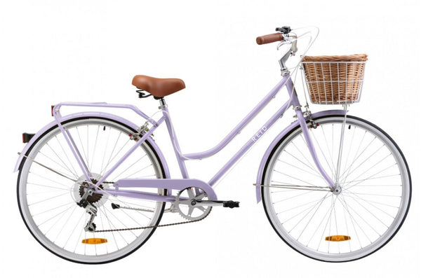 Ladies Classic Plus Vintage Bike in Lavender with 7-speed Shimano gearing from Reid Cycles Australia