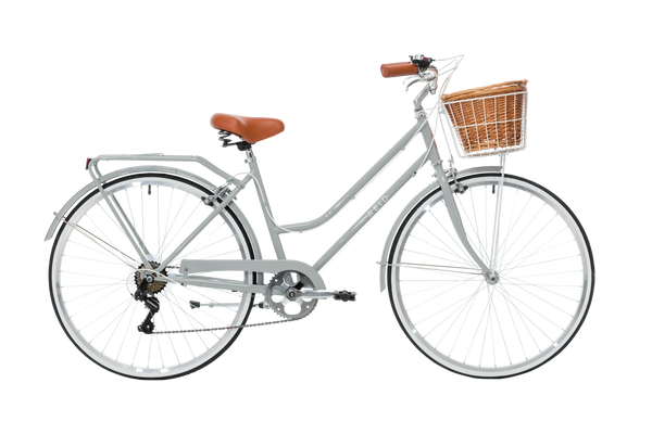 Ladies Classic Plus Vintage Bike in Smoke Grey with 7-speed Shimano gearing from Reid Cycles Australia