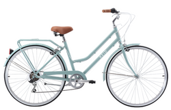 Ladies Lite Vintage Bike in Sage with 7-speed Shimano gearing from Reid Cycles Australia