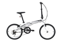 Metro Folding Bike commuter bike in white with Shimano 7-speed from Reid Cycles Australia