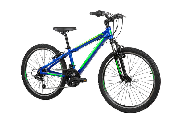 "Scout 24"" Kids Bike in Blue Green on front angle from Reid Cycles Australia"