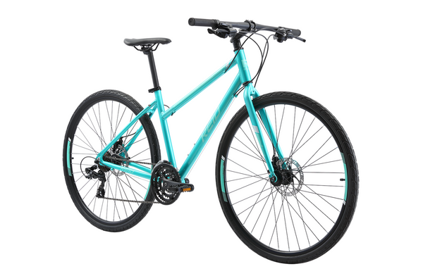 Transit Disc WSD women's commuter bike in green on front angle from Reid Cycles Australia