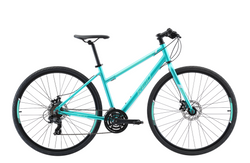 Transit Disc WSD women's commuter bike in green with Shimano 7-speed gearing from Reid Cycles Australia