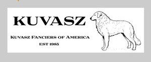 KUVASZ bumpersticker