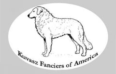Kuvasz Oval Sticker