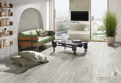 EuroStyle German Laminate Flooring - Alabaster Barnwood