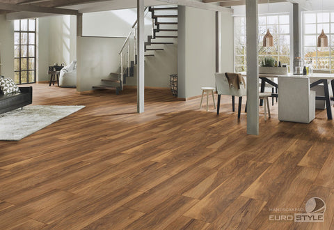 EuroStyle German Laminate Flooring - Appalachian Hickory Handscraped