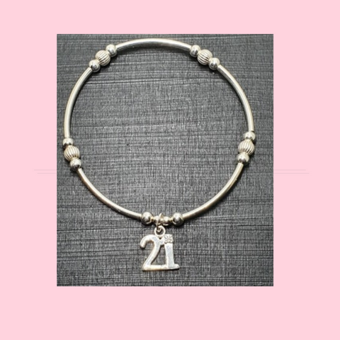 21st Birthday Bracelet