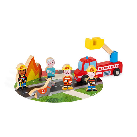 Janod Story Firefighters Set