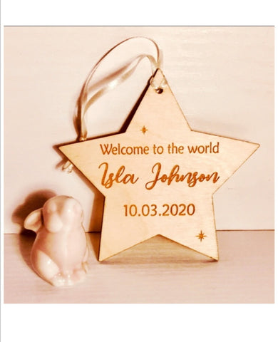 Personalised Baby / Christening Star