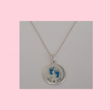Sterling Silver Necklace with Silver 'It's A Boy or 'It's A Girl' Charm