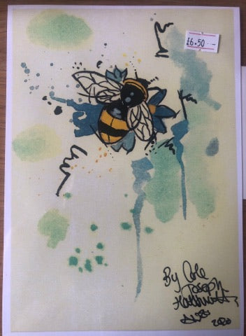 Bee Watercolour Painting Collection by Cole Joseph Art