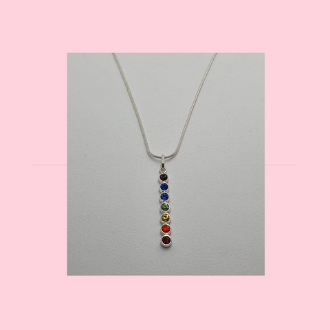 Chakra Charm on Sterling Silver Necklace