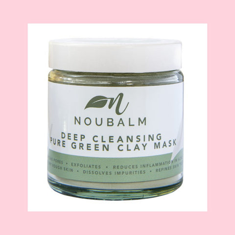 Noubalm Deep Cleansing Pure Green Clay Mask - 100% Natural & Organic