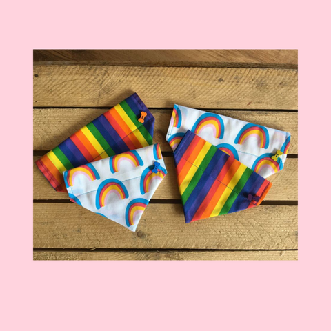 Dog Bandana In Rainbow Colour Designs