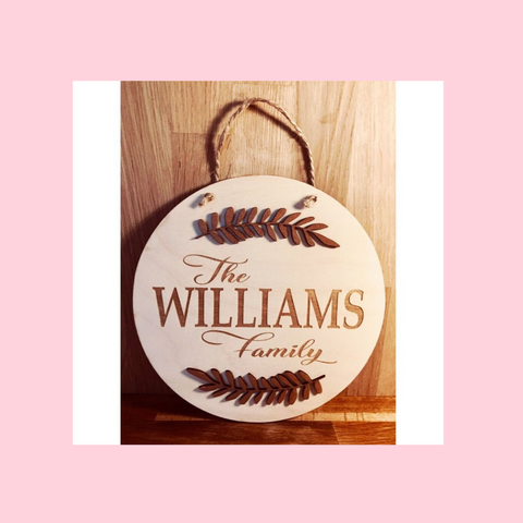 Personalised Hanging Family Name Circle