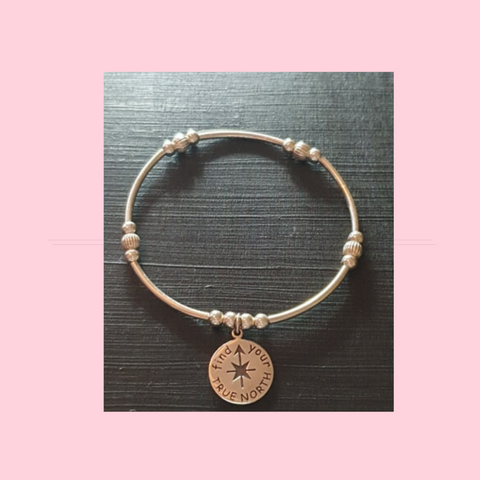 Find Your True North Charm Bracelet