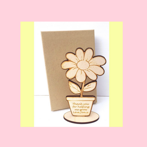 Teacher Flower Figurine And Gift Box Personalised