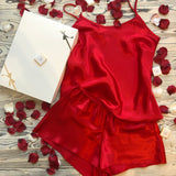 Luxury Personalised Satin Cami And Short Lingerie Set