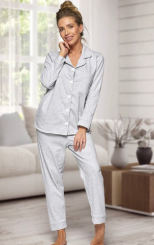 Personalised Ladies Grey Pyjamas